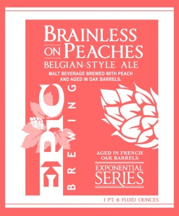 Epic Brewing Company | Brainless on Peaches 10.7% ABV